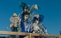 Venice carnival masks colors and atmosphere and characters of the of Stock Photos