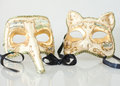 Venice carnival masks his and hers Royalty Free Stock Image