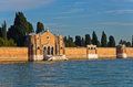 Venice cemetary at saint michael island or isola di san michele italy Royalty Free Stock Images