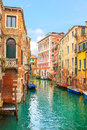 Venice cityscape narrow water canal traditional buildings italy europe Royalty Free Stock Image