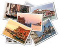 Venice collage of photos of italy isolated on the white background Royalty Free Stock Images