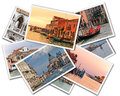 Venice collage of photos of italy isolated on the white background Stock Images