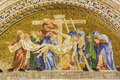 Venice deposition of the cross basilica italy march exterior mosaic from st mark cathedral Royalty Free Stock Photo