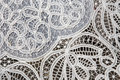 Venice detail from lace on markte of burano island Royalty Free Stock Photos
