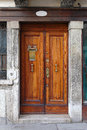 Venice door traditional medieval wooden in Stock Image