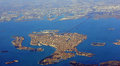 Venice is a fish view of lagoon from the air Stock Image