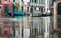 Venice flooded from the high water season in october in italy Royalty Free Stock Photography