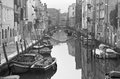 Venice fondamenta de la sensa and canal in morning from ponte malvasia bridge Royalty Free Stock Photo