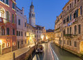 Venice fondamenta del furlani street and canal in morning Royalty Free Stock Photo
