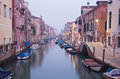 Venice fondamenta del la sensa and canal in morning Royalty Free Stock Photos