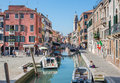 Venice fondamenta giardini street and campo san barnaba square italy march Stock Photos