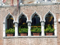 Venice fondamenta minotto a typical venetian facade of the palazzo marcello Royalty Free Stock Photo