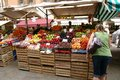 Venice fruit market a colourful open air on a warm sunny day Royalty Free Stock Photos