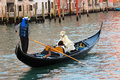 Venice gondola italy feb carnival participants on a on the grand canal on february in s are a major mode of Stock Images