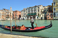 Venice gondola mar at grand canal on october in italy there were several thousand gondolas in the th century with only Stock Photos