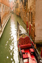 Venice gondola on small canal Royalty Free Stock Image