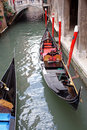 Venice: gondola traffic Royalty Free Stock Image
