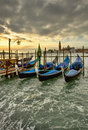 Venice gondolas Royalty Free Stock Images