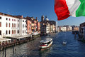 Venice, Grand canal with boats Stock Photography