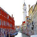 Venice Grand canal with gondola Royalty Free Stock Photo