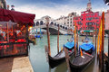 Venice Grand Canal and gondola Royalty Free Stock Photo