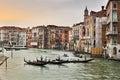 Venice Grand Canal 3 Gondola Royalty Free Stock Photo