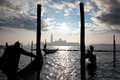 Venice, Grand canal with gondolas Royalty Free Stock Photos