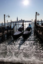 Venice, Grand canal with gondolas Stock Photo