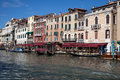 Venice grand canal the main highway for boats in italy Royalty Free Stock Photo