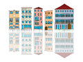Venice houses cartoon over white background Royalty Free Stock Images