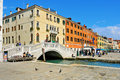 Venice italy april ponte del sepolcro in riva schiavoni on april in riva schiavoni in the riverside of the venetian Royalty Free Stock Image