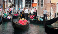Venice, Italy. August 31, 2014. Traffic at Venice Royalty Free Stock Photo
