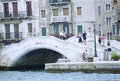 Venice in italy bridge with people Royalty Free Stock Image