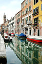 Venice, Italy - buildings reflection in a canal Royalty Free Stock Photo