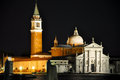 VENICE-ITALY 22: Church of San Giorgio Maggiore at night on July 22,2013 in Venice, Italy. Royalty Free Stock Photo