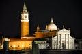 Venice italy church of san giorgio maggiore at night on july in venice italy Stock Image