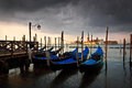 Venice italy dramatic cloudy morning in Stock Photo