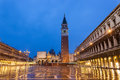 Venice italy evening in piazza san marco Stock Image