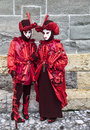 Venice italy february th portrait two person traditional masks cotumes venice carnival days Stock Photo