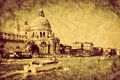 Venice, Italy. Grand Canal and Basilica Santa Maria della Salute Royalty Free Stock Photo
