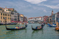 Venice italy june gondolas at grand canal in venice ita on Royalty Free Stock Image