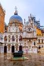 Doges palace courtyard, Venice, Italy Royalty Free Stock Photo