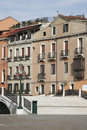 Venice, Italy - Little Bridge, Old Building Facade Royalty Free Stock Photos