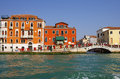 Venice italy october grand canal on october italy row of beautiful medieval houses on grand canal attracting thousands Stock Photography
