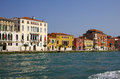 Venice italy october grand canal on october italy row of beautiful medieval houses on grand canal attracting thousands Royalty Free Stock Photo