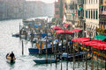 VENICE, ITALY - OCTOBER 26 : View down the Grand Canal in Venice Royalty Free Stock Photo