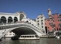 Venice, Italy - The Rialto Bridge. Royalty Free Stock Photo