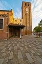 Venice italy san nicolo dei mendicoli church rare th century veneto byzantine structure example Royalty Free Stock Photography