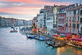 Venice Italy, sunset on the Grand Canal Royalty Free Stock Photo