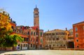 Venice italy venetian old architecture sunny blue sky Stock Photos